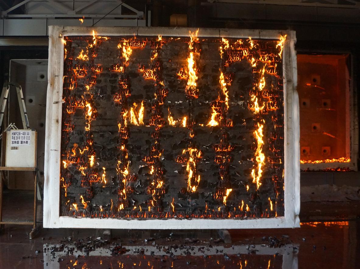 信州カラマツサイディングCLT造準耐火1時間壁